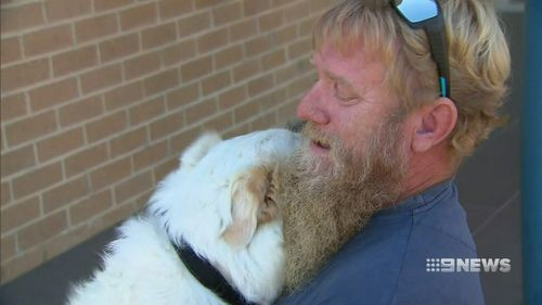 Tim Barrot was beyond tears when he thought he wouldn't see his beloved dog Medusa again.