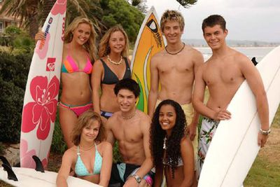 He also played a surfer boy in kids' TV series <i>Blue Water High</i> in 2005.<br/><br/>Image: Southern Star Entertianment