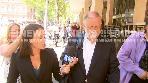 John Finnin outside the Melbourne Magistrate's Court.