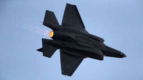 In this 2016 file photo, an Israeli Air Force F-35 plane performs during a graduation ceremony for new pilots in the Hatzerim Air Force Base near Beersheba, Israel.