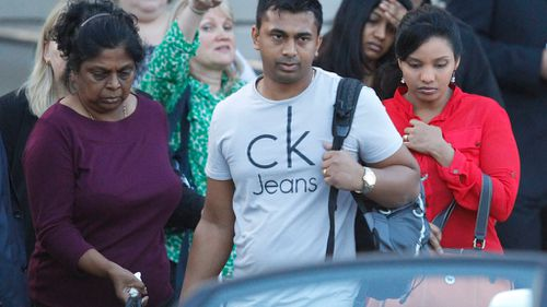 Family members of Myuran Sukumaran return to Sydney after the execution. (AAP)