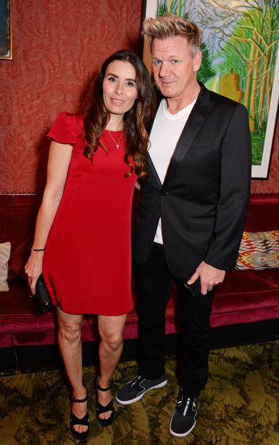 Tana Ramsay (L) and Gordon Ramsay attend the Victoria Beckham anniversary party.