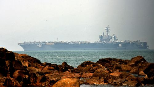 Vietnam hosts US aircraft carrier for first time since end of war