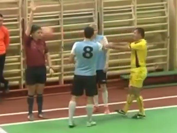 Petulant player punches referee