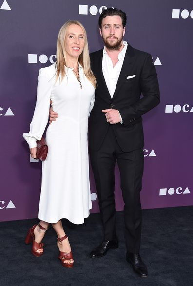 Sam and Aaron Taylor-Johnson in 2019