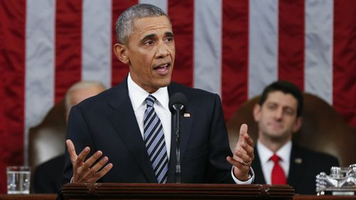 Barack Obama urges US to embrace time of 'extraordinary change' in final State of the Union address
