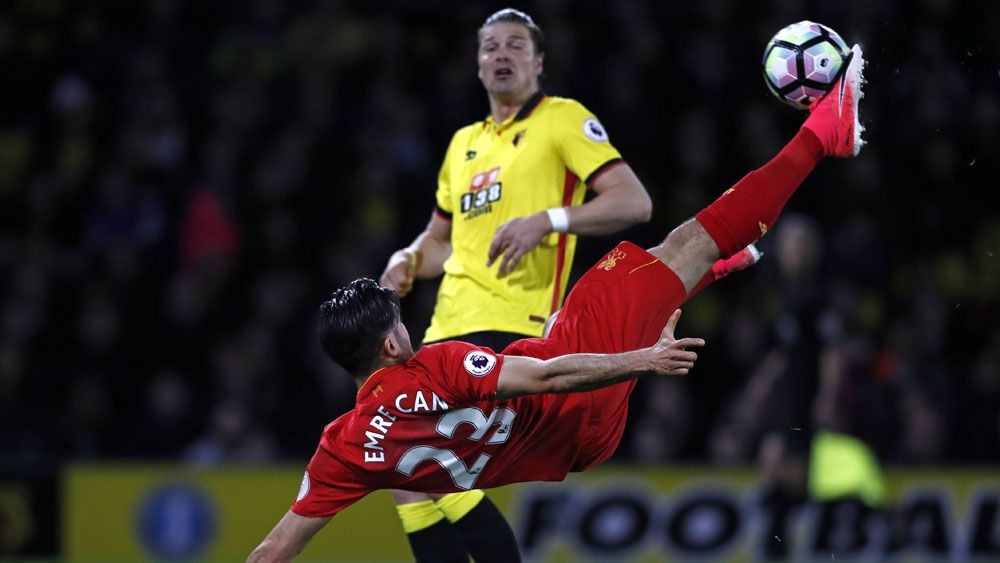 Emre Can scores 'one of the great Liverpool goals' against Watford in the EPL