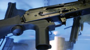 Bump stocks allow guns to mimic fully automatic fire and were used in last year's Las Vegas massacre. (AAP)