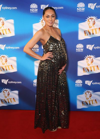 Singer and <em>The Voice </em>star Prinnie Stevens at the premiere of <em>Evita</em>, Sydney Opera House.