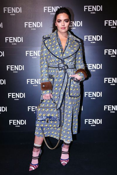 Olympia Vallance at the opening of Fendi's new boutique in Collins Street Melbourne