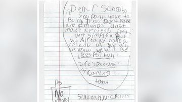 US boy writes letter to primary school bully who spat at him and a friend