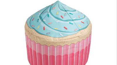 "<strong>LTD cupcake bean bag cover</strong>, $29, <a href=""https://www.target.com.au/p/ltd-cupcake-bean-bag-cover/58233863"" target=""_top"">target.com.au</a>"