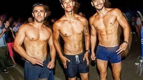 The men are all amateur bodybuilders.