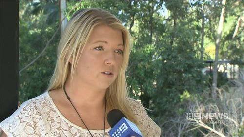 Tahnia Cook has not heard from her husband since the storm hit. (9NEWS)