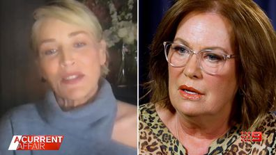 Sharon Stone speaks to A Current Affair host Tracy Grimshaw in TV exclusive