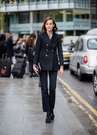 Alexa Chung - modern masculinity. A gorgeous look for those with boyish figures.