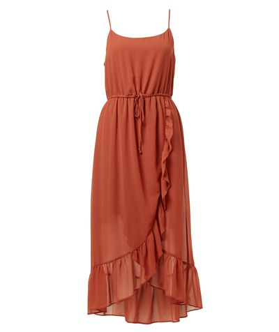 "<a href=""https://www.sportsgirl.com.au/clothing/ruffle-hem-maxi-dress-copper"" target=""_blank"">Sportsgirl Ruffle Hem Maxi Dress, $99.95.</a>"