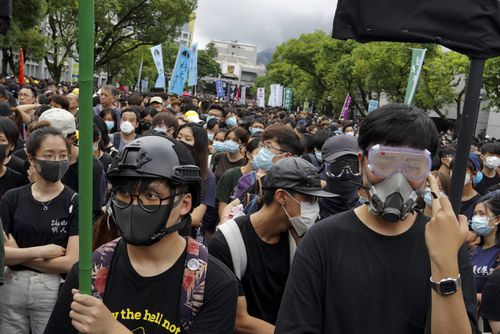 The demonstrations began in response to a proposed extradition law and have expanded to include other grievances and demands for democracy in the semiautonomous Chinese territory. (AP Photo/Vincent Yu)