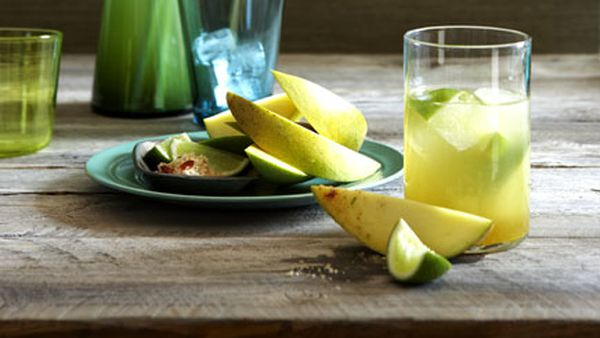 Mango with lime and chilli salt