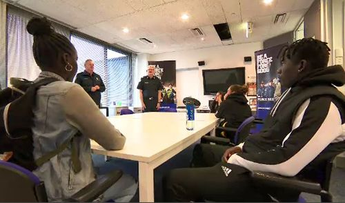 The new internship program is offering eight teenagers who arrived in Australia as refugees the chance to learn what it takes to be a police officer.