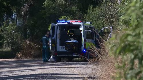 Paramedics at the scene. Picture: 9NEWS