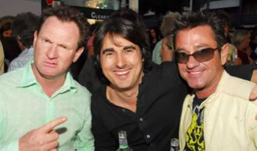Thonburgh with comedians Russell Gilbert and Nick Giannopoulos.