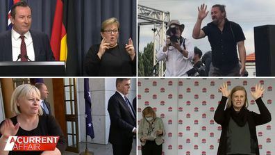 Sign language stars as recognisable as the leaders they stand next to.