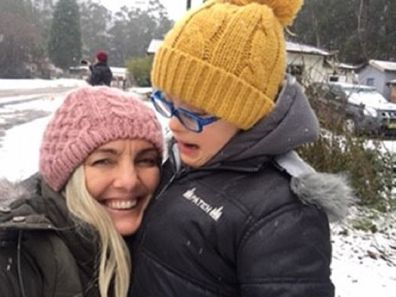Natalie and Max at the snow