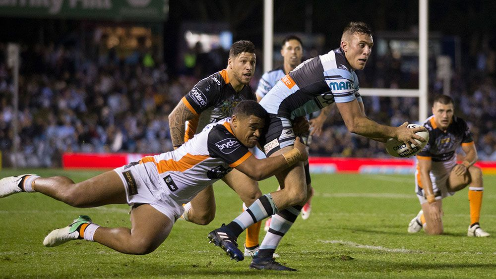 Sharks beat Tigers in NRL comeback win