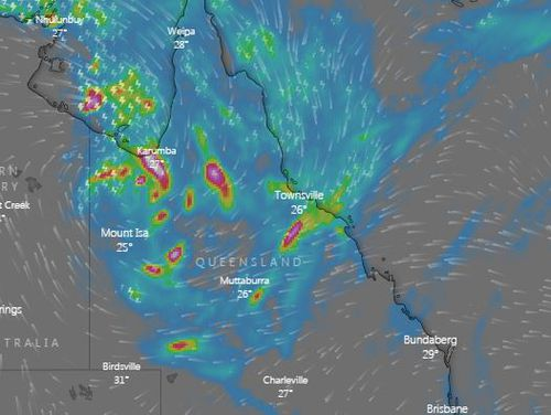 Rain is continuing to fall in Queensland and is set to continue into next week.