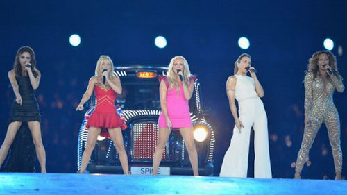 The Spice Girls performing at the London Olympics. (Getty)