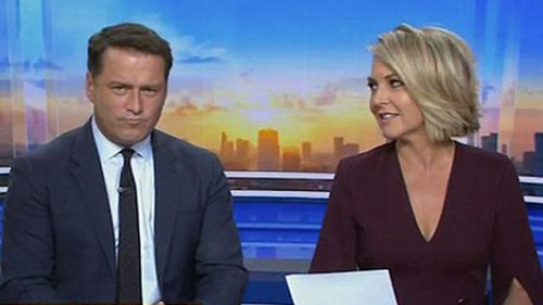 Today Show co-hosts Karl Stefanovic and Georgie Gardner reunited on this morning's show. (9NEWS)