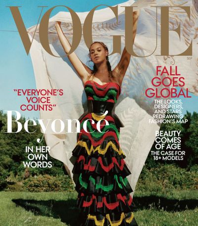 Beyoncé wears a Alexander McQueen dress and corset and Lynn Ban earrings