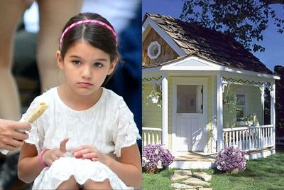Divorced parents Katie Holmes and Tom Cruise have reportedly let their daughter have whatever she wants - including cupcakes for breakfast, an iPad, $30,000 toy car, $100,000 tree-house and a $24,000 Grand Victorian Playhouse.<br/>With a designer wardrobe worth an estimated three million dollars, this baby girl also has her very own custom-made shoes by Christian Louboutin and Roger Vivier, not to mention a Ferragamo purse.