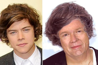 One Direction heatthrob Harry will be rocking a nana-style purple rinse, apparently.