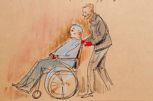 Robert Bowers was wheeled into court after being wounded in the gun battle with police when he was arrested after allegedly murdering 11 people in the Pittsburgh synagogue.