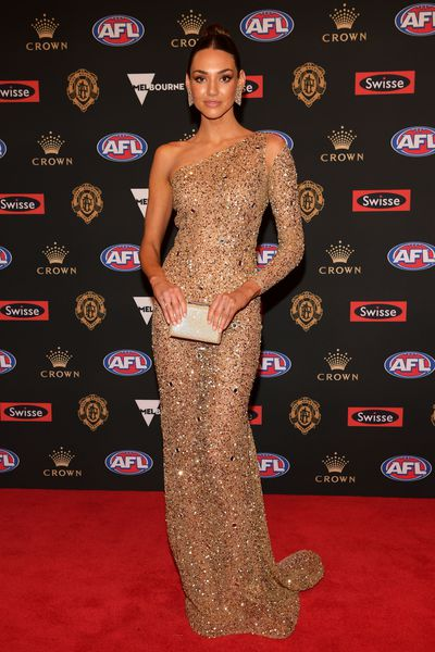 Model Dani Shreeve, partner of Hawthorn's Jack Gunston at the 2018 Brownlow Medal, September, 2018