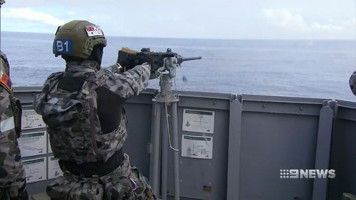 Australian personnel are in the South Pacific for the Indo-Pacific Endeavour. Picture: 9NEWS