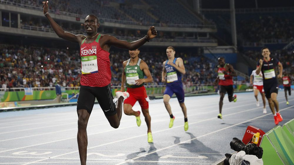 David Rudisha was too good for the field as he claimed back to-back titles (AFP)