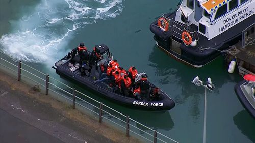 Migrants from the Calais camp are using flimsy inflatable boats and risking their lives to get across the water to Dover.