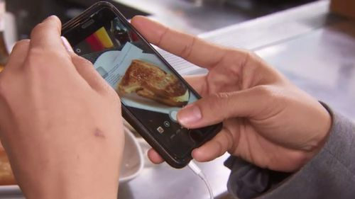 The sandwich proved a hit with Instagrammers. (9NEWS)