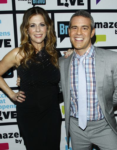 Rita Wilson and Andy Cohen.