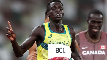 Peter Bol stormed into 800 metre final in Tokyo.