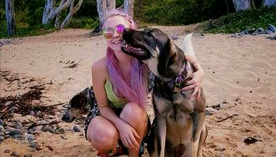 Her daughter had been quietly walking along a beach north of Cairns with her pet dog, Indy, when she was brutally murdered.