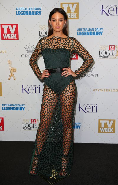 Jesinta Franklin at the 58th Annual Logie Awards in Melbourne, May, 2016
