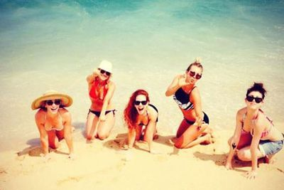 Kaley is living it up in Mexico with her girlfriends...<br/><br/>(Image: Instagram)