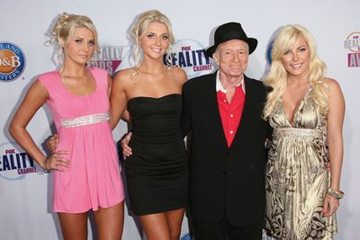 <p>Age gap: 60-64 years</p><p>And the winning cradle snatchers is ... magazine magnate Hugh Hefner. <p>Hugh has had relationships with many of his Playboy bunnies, and an engagement to Crystal Harris.</p><p>However the biggest gap was between himself and twins Krista and Karissa Shannon. They described the relationship as less romance and more about fun.</p><p>We would use a very different f-word.</p>