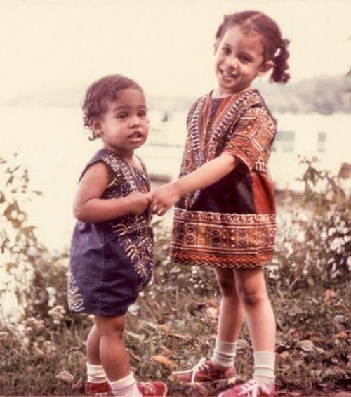 Kamala Harris and her younger sister Maya when they were children.