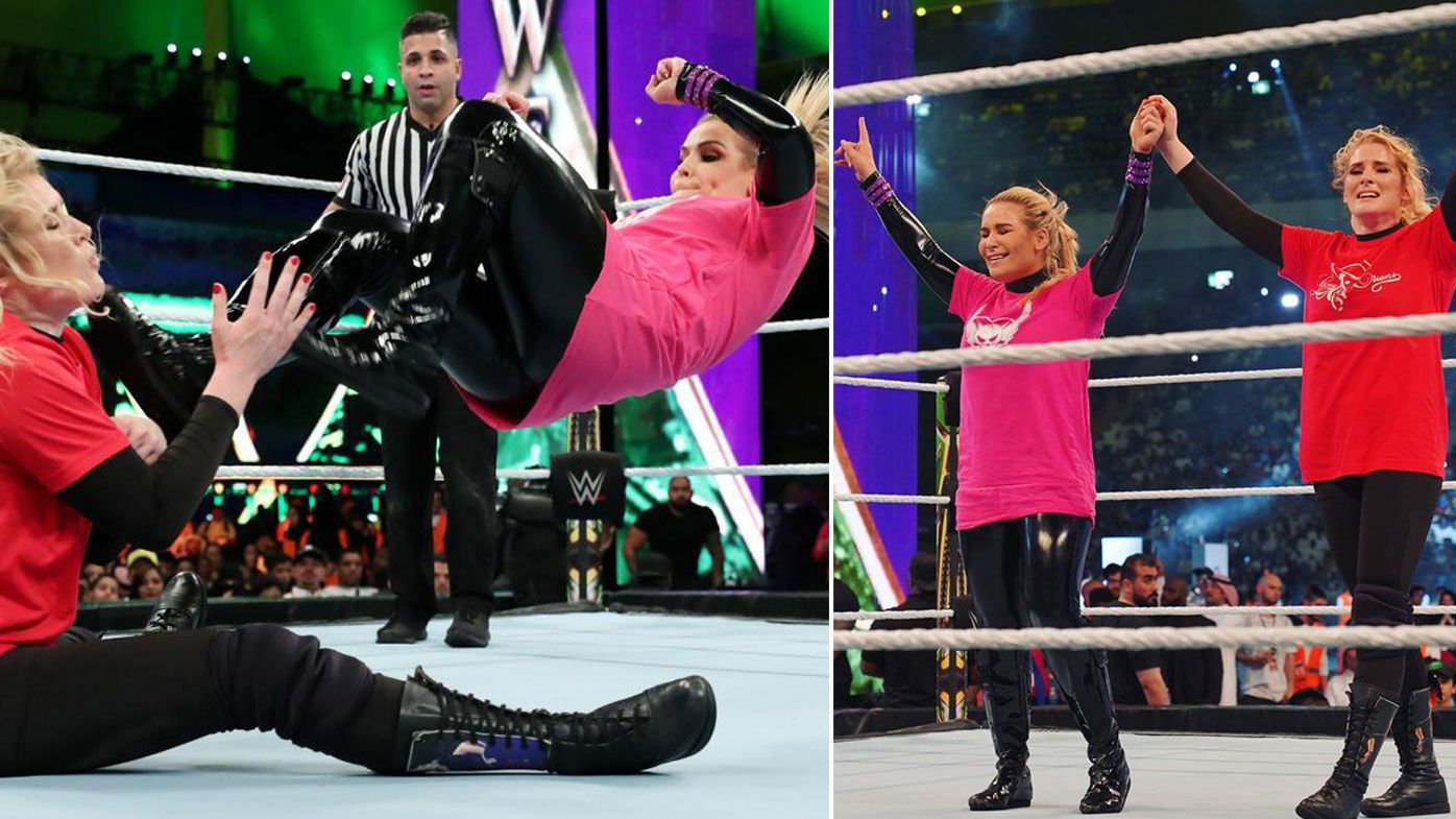 The WWE hosted the first ever women's wrestling match held in Saudi Arabia