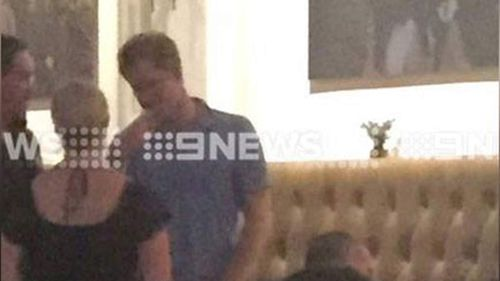 Prince Harry in Perth this week. (9NEWS)